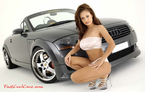 Audi TT (Twin Turbo ) and sexy lady