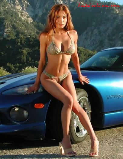 Dodge Viper and sexy lady