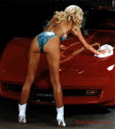 Sexy Lady and Fast Cool Car Chevrolet Corvette