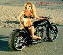 Sexy lady with motorcycle