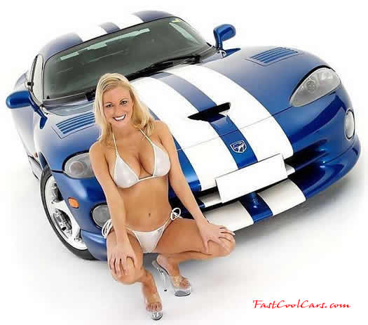 Dodge Viper and Pretty Blonde