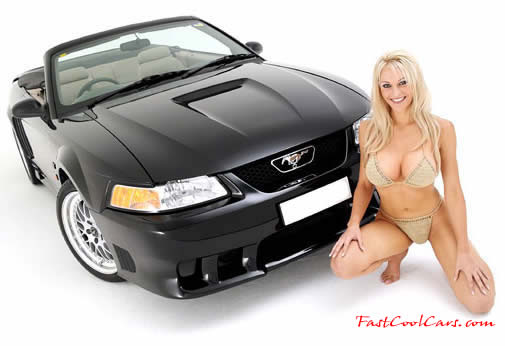 Ford Mustang and beautiful blonde