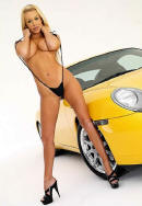 Pretty blonde and her Porsche
