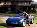 Blue Chevy Corvette C4 with model