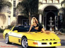 Yellow Callaway Corvette with model