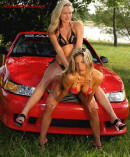Sexy ladies with Saleen Mustang